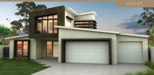 building a house ascot house plan facade