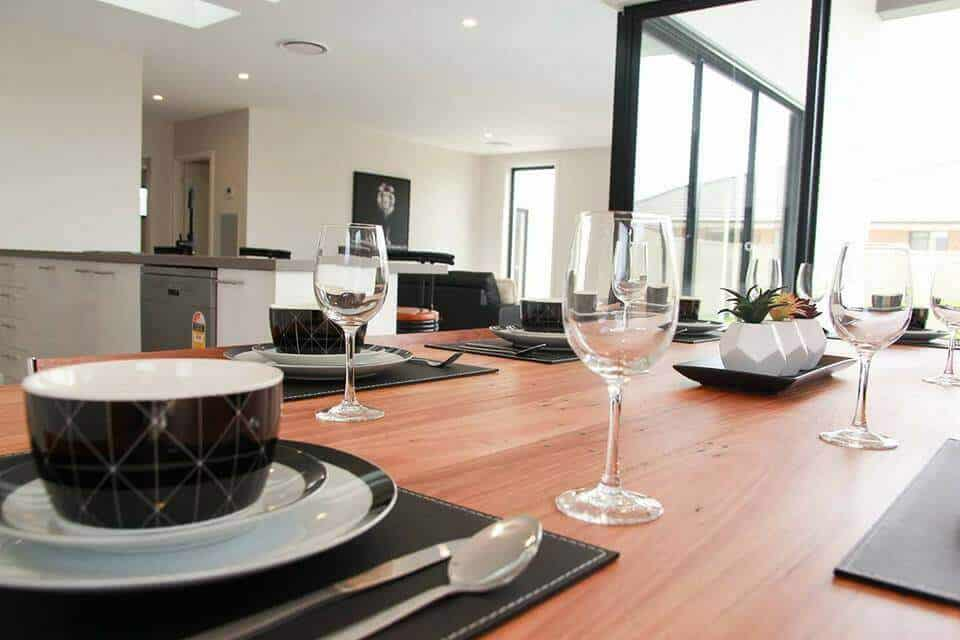 Shepparton luxury display home table setting