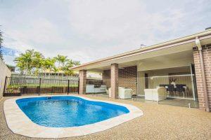 custom home builders Hervey Bay Display Home pool area