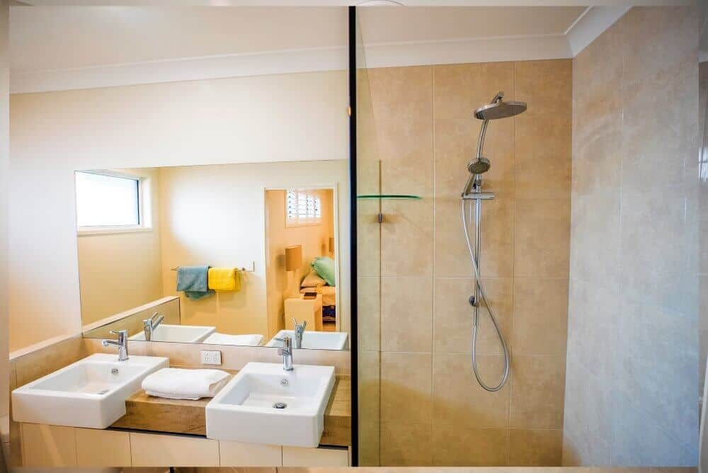 custom home builders Hervey Bay Display Home Bathroom