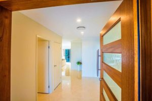 custom home builders Hervey Bay Display Home entry