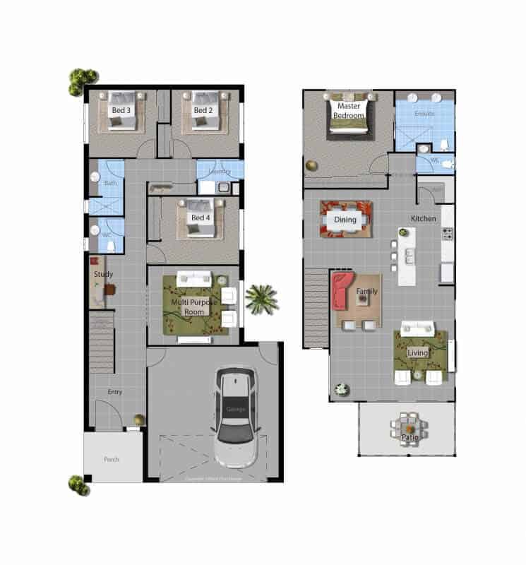 Broadwater house floor plan