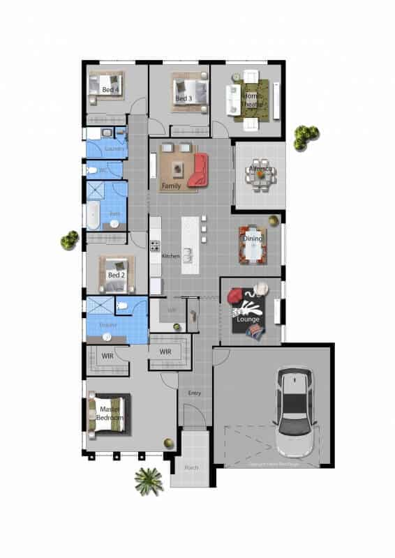 David Reid Homes dawson house floor plan