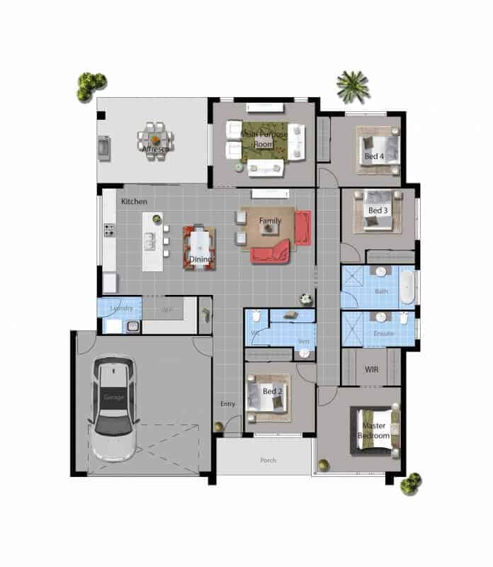 David Reid Homes Molonglo floor plan