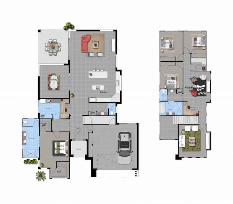 David Reid Homes St. Clair House floor plan