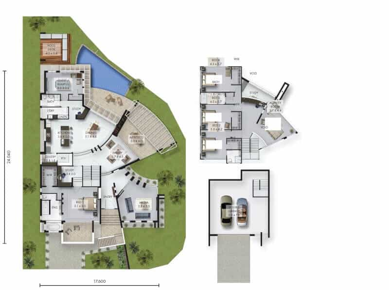 David Reid Homes Luxury home Cherrybrook floor plan