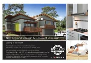 David Reid Homes New England builder Design & Construction Specialist Ad Proof