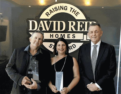 David Reid Homes Franchisee of the Year 2016 award