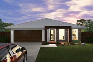 David Reid Homes Murray Modern house - Facade Render