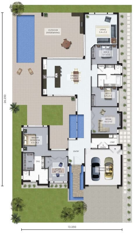 catalunya house floor plan
