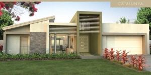 catalunya house plan facade