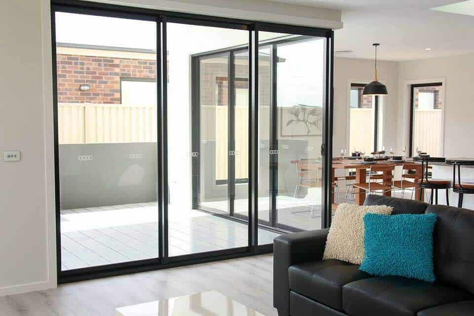 custom home builders Shepparton display home open light