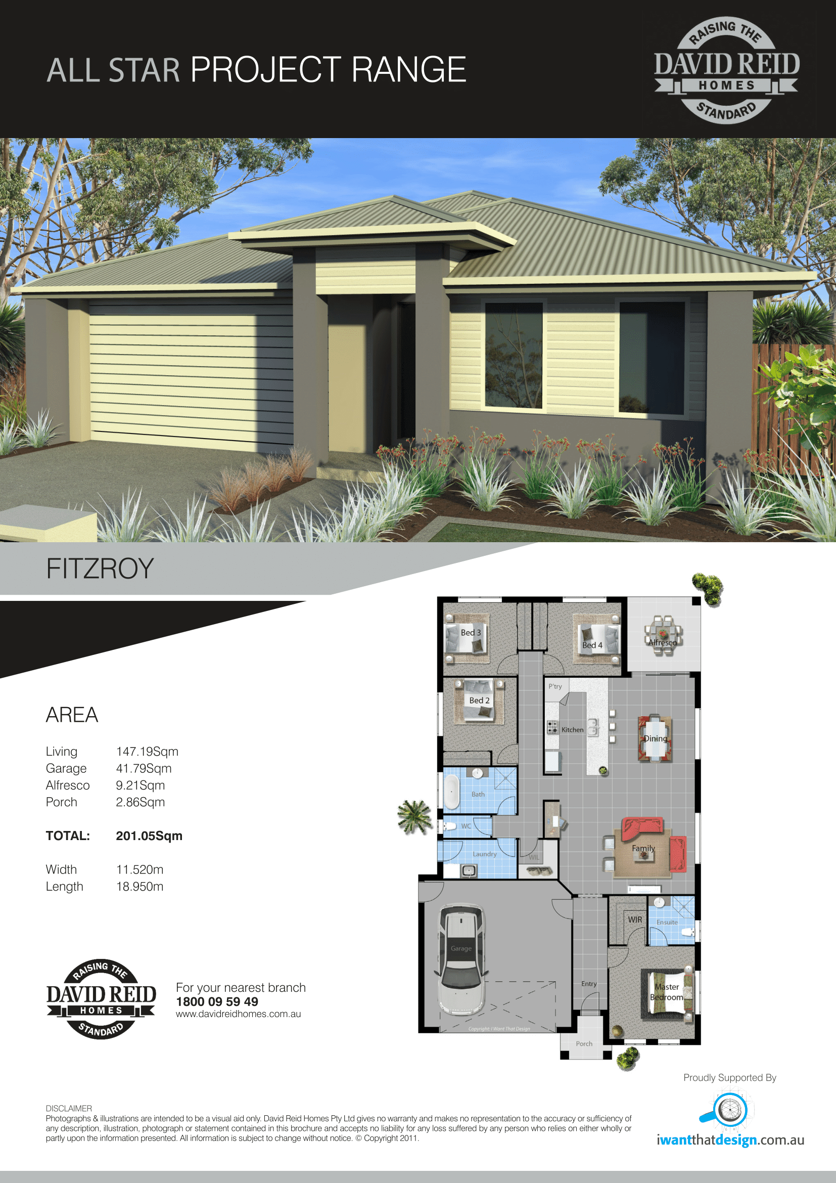 Moree House and Land package Fitzroy House specification