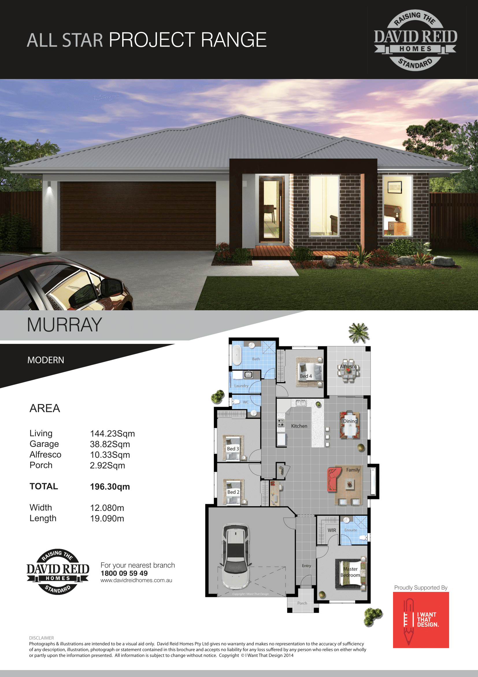 Glen Innes House and Land package Murray House specification