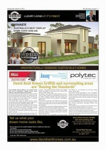 David Reid Homes Griffith Australia's Best Display Winner