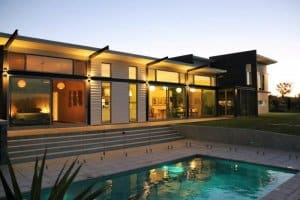 Sustainable house beauty at night