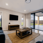 custom home builders Tamworth Display Homes living room