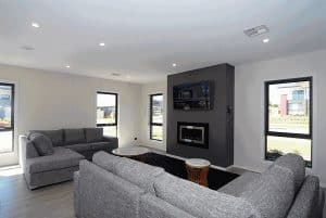 gray themed living room