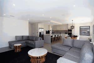 sample gray themed living room