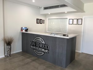David Reid Homes Custom home builders Shoalhaven Display Centre reception area