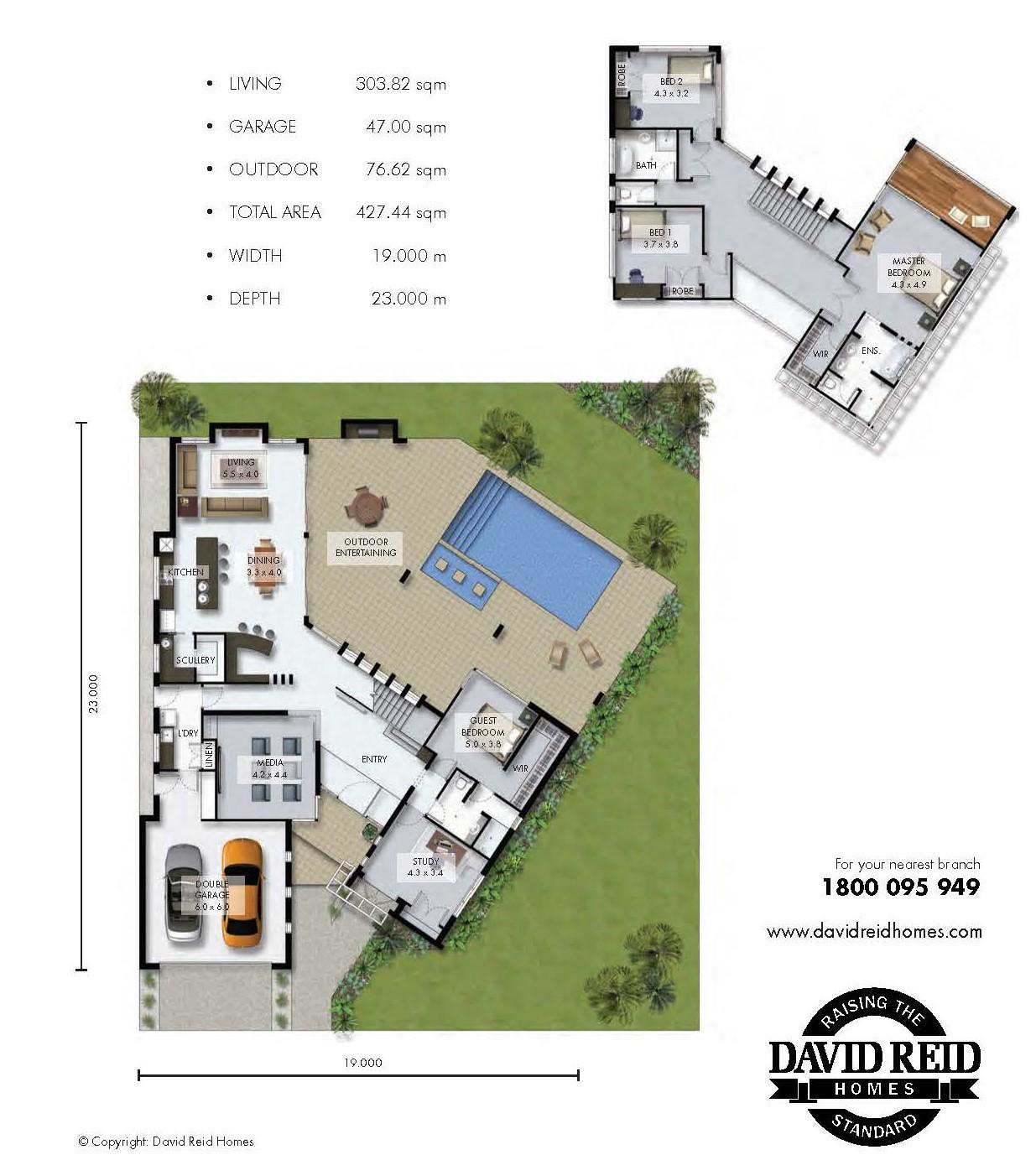 Custom Home: The Alpine Floor Plan