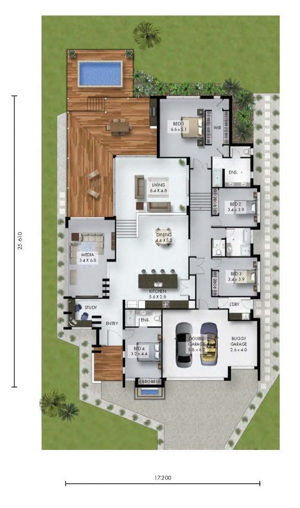 Custom Home: The Woodsong Floor Plan