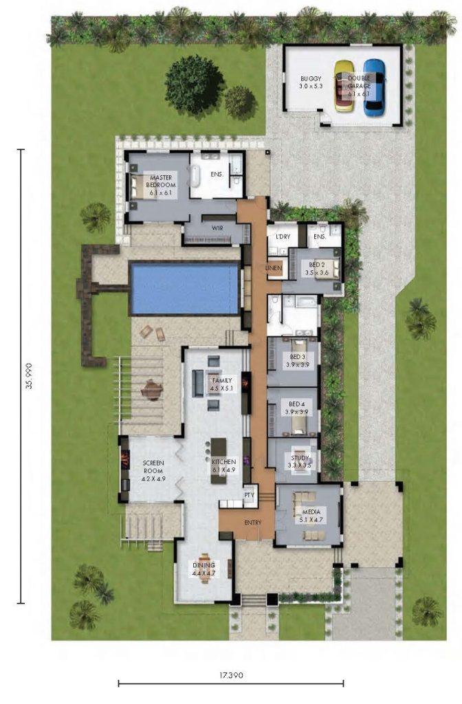 Custom Home: The Bridlewood Floor Plan