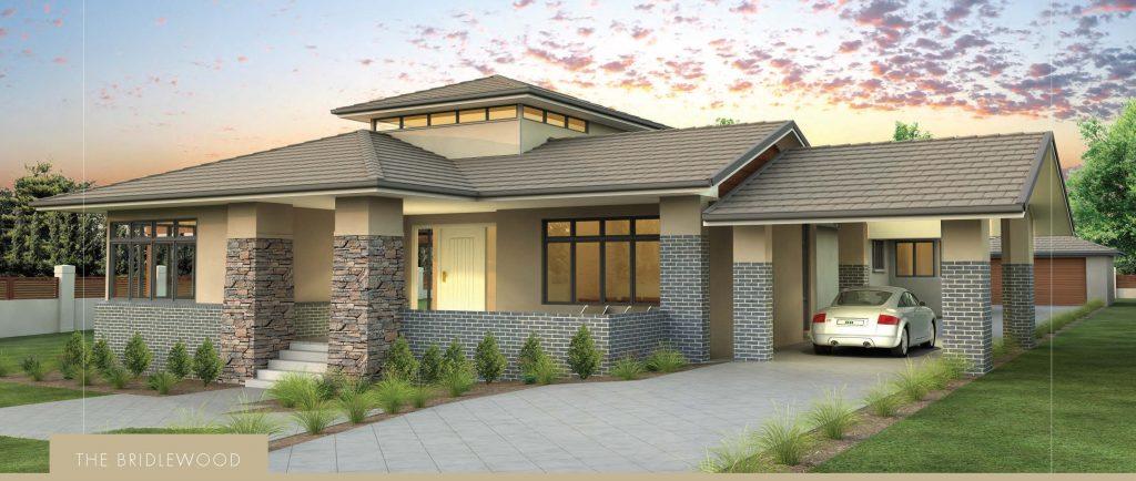 Custom Home: The Bridlewood Facade